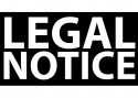 "Large, capitalized, white text, ""LEGAL NOTICE"" on black background"