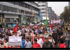 Demonstration in Lima, Peru