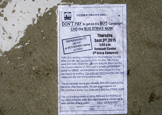 A leaflet lying on the wet ground describes what the action is all about.