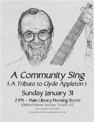 Poster for the tribute to Clyde Appleton