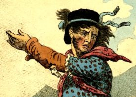Detail of engraving showing the original Luddites