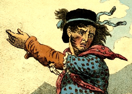 Detail of engraving showing the original Luddites