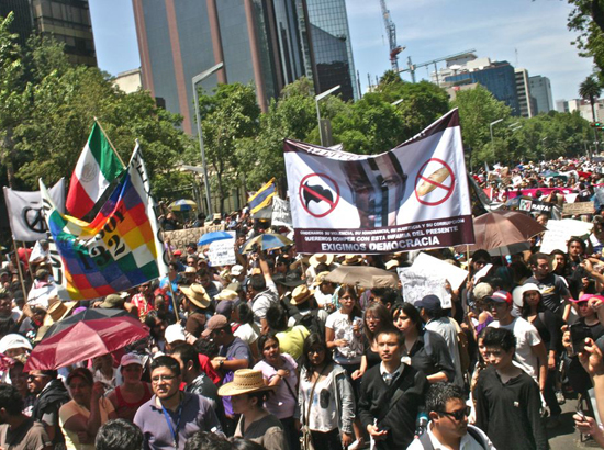 Protests in Mexico 2012