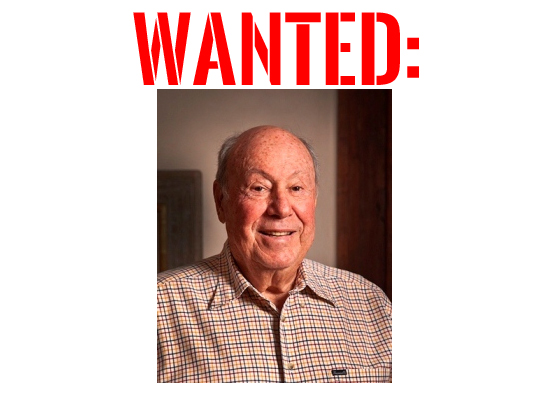 """""""Don Diamond, with large red stencil lettering above which reads, 'WANTED'"""""""