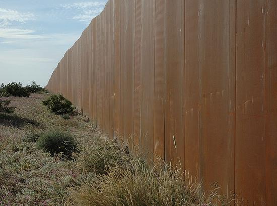 The border wall, Sonora, Mexico