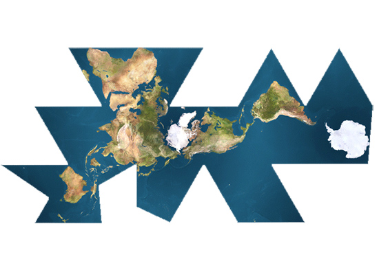 Buckminster Fuller's Dymaxion Map of Earth