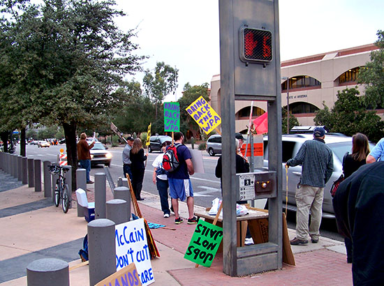 Demonstrators at the November 15 action