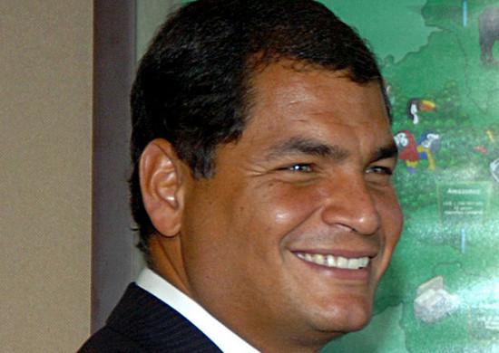 Rafael Correa on December 8, 2006