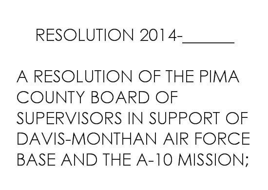 COUNTY RESOLUTION
