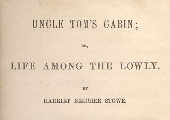 Title from original cover of Uncle Tom's Cabin