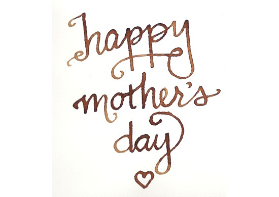 """""""Happy Mother's Day"""" followed by a heart."""