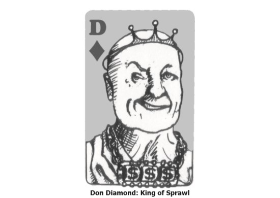 Caricature of Don Diamond as a King of Diamonds