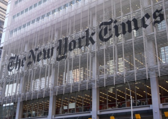 Picture of New York Times building in New York City