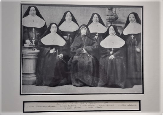 The photo is of the Seven Sisters of St. Joseph of Carondelet, nuns who survived 13 desert days travelling from San Diego to Tucson in a covered wagon in May of 1880. The women, hired to teach at Archbishop Jean-Baptist Salpoint's school, soon opened schools of their own, as well as St. Mary's Hospital, the first hospital in Arizona. That facility, along with others belonging to the Carondelet Sisters, was recently sold.