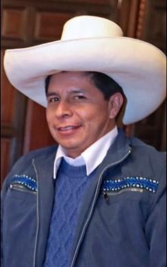 Picture of the President of Peru, Pedro Castillo